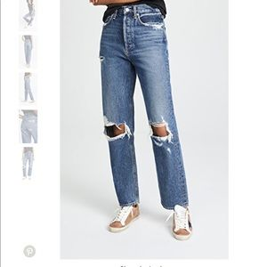 Agolde highrise buttonfly jean